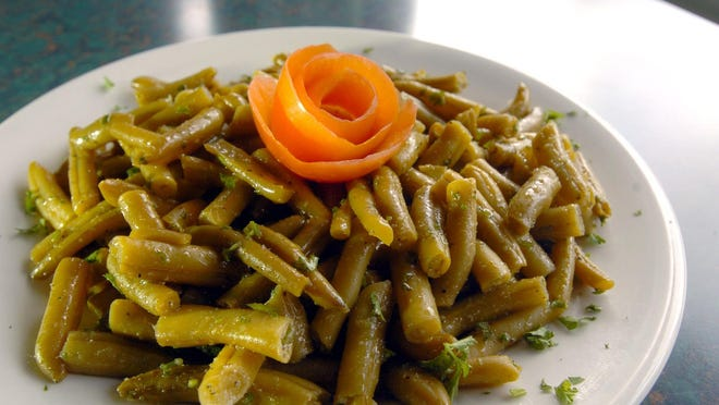 String Bean Salad is a cold side dish made famous by Angelo's Civita Farnese.