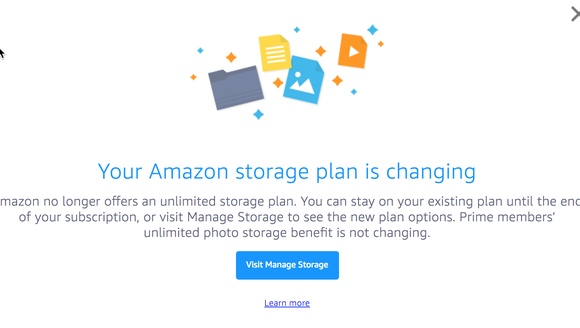 Amazon has killed its unlimited storage plan