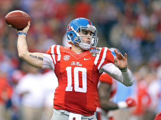 Chad Kelly threw for over 4,000 yards and rushed for 500 more last season for Ole Miss.