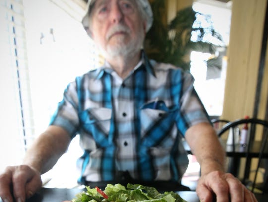 Here Martino Linares with one of his signature salads,