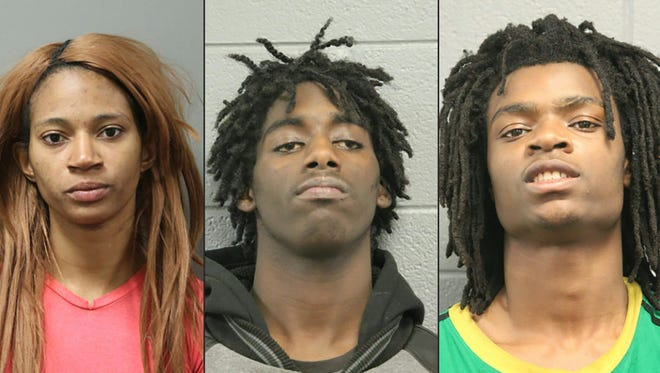"""(COMBO) This combination of pictures created on January 5, 2017 shows the mugshots released by the Chicago Police Department on January 5, 2017, of assault suspects (L-R) Tanishia Covington, Jordan Hill, Tesfaye Cooper, and Brittany Covington.  Chicago prosecutors filed hate crime and other felony charges Thursday against Covington and three others, accused of holding captive and assaulting a man with special needs in a racially charged attack broadcast live on Facebook.  / AFP PHOTO / Chicago Police Department / HO / RESTRICTED TO EDITORIAL USE - MANDATORY CREDIT """"AFP PHOTO / Chicago Police Department"""" - NO MARKETING NO ADVERTISING CAMPAIGNS - DISTRIBUTED AS A SERVICE TO CLIENTS HO/AFP/Getty Images ORIG FILE ID: AFP_JM6U5"""