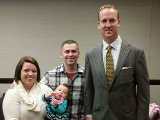 Peyton manning makes sure indiana couple has night to remember m4hsunfo