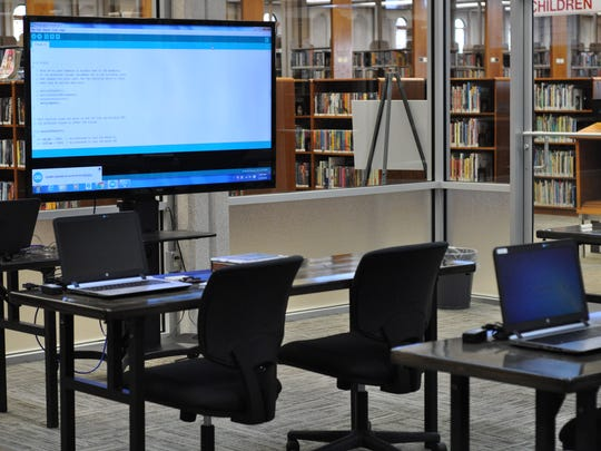 The Rapides Parish Library's Main Library in downtown Alexandria reopened Tuesday after being closed for more than two months for renovations. Those included the addition of a multimedia computer lab which will be used for classes for adults and children.
