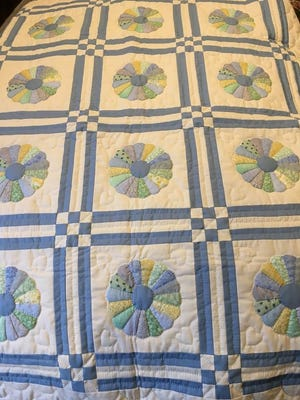 This baby boy quilt is among the items on display and for sale at this weekend's Art, Craft and Amish Quilt Sale in Jacksonport.
