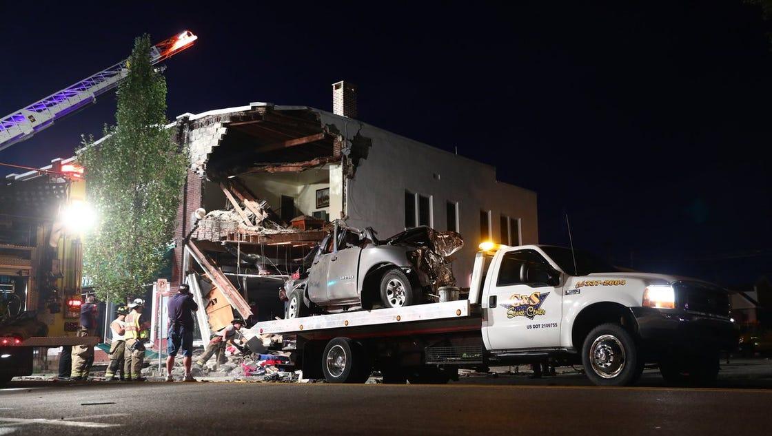 Car Crashes Into Building Today