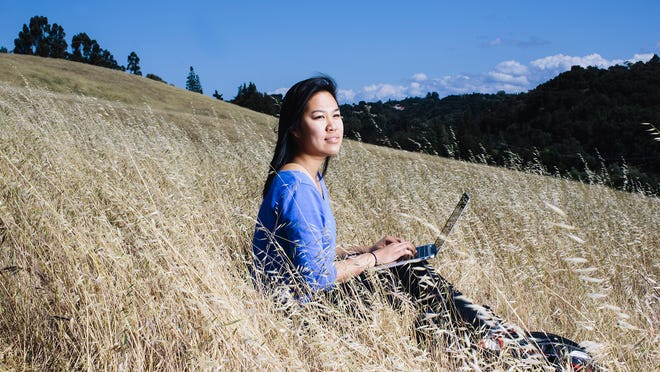 Christine Chen, a second-year student at Stanford University and recipient of the OZY Genius Award, poses for a portrait in Palo Alto, Calif. on Friday, May 15, 2015. Chen is the founder of online community platform DiverseCity.