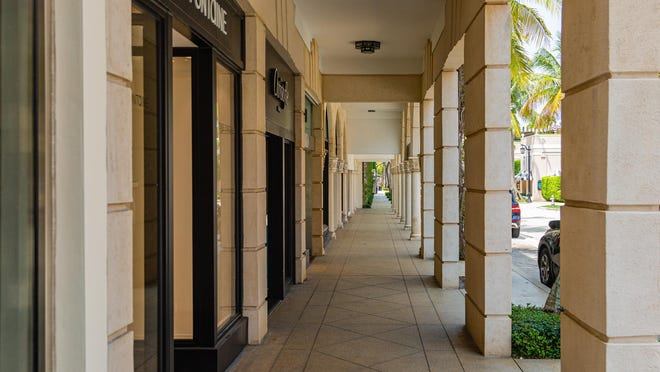 Worth Avenue in Palm Beach is devoid of shoppers earlier this month.