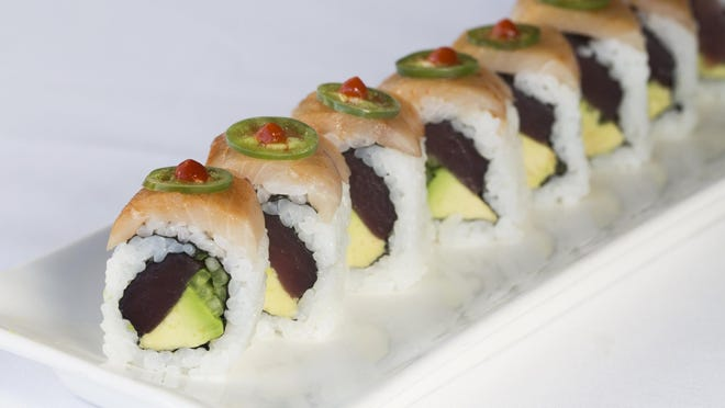 "On Sundays at LoLa 41, sushi rolls, such as the ""Honshu,"" are buy one, get one free of equal or lesser value."