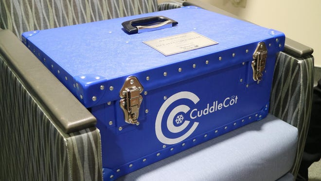 A CuddleCot was donated in February in honor of Jace Alexander Miller to JFK Medical Center in Atlantis. CuddleCots cool stillborn babies, allowing their families to spend more time with them and better process their grief. Created in the United Kingdom about eight years ago, the device is growing in popularity in the U.S., with nearly every hospital in Palm Beach County having at least one.