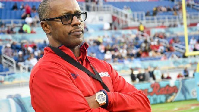New Florida Atlantic head coach Willie Taggart attended the 2019 Boca Raton Bowl. FAU played SMU.
