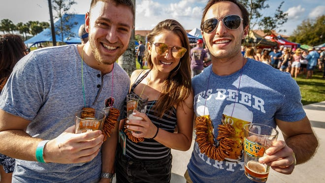 Enjoy the 2nd Annual Wellington Classic Brew Fest at the village's Town Center on Saturday, February 8, 2019. Photo from 2019, when the event sold out.