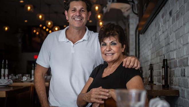 Angelo Abbenante and his mother Maria Abbenante at the downtown West Palm  location of Lynora's, a restaurant named for Maria's grandmother.