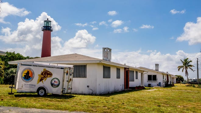 Old Coast Guard buildings being considered for demolition or refurbishment by the Bureau of Land Management inside Jupiter Inlet Lighthouse Outstanding Natural Area on October 1, 2019.