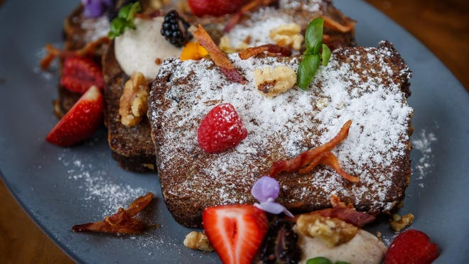 French toast from the kitchen of Executive Chef Andre Sattler at The Ben West Palm. downtown West Palm Beach's newest hotel.