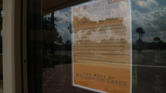 The Mall at Wellington Green is temporarily closed and set to reopen May 1 as officials work to stem the spread of the new coronavirus.