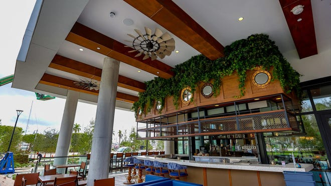Decor in the Proper Grit restaurant inside of The Ben, a new 208-room boutique hotel that opened in West Palm Beach in February and is now offering an all-inclusive promotion to lure guests.