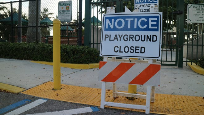 Wellington closed Scott's Place Playground and other playgrounds in March as officials worked to stem the spread of the novel coronavirus.