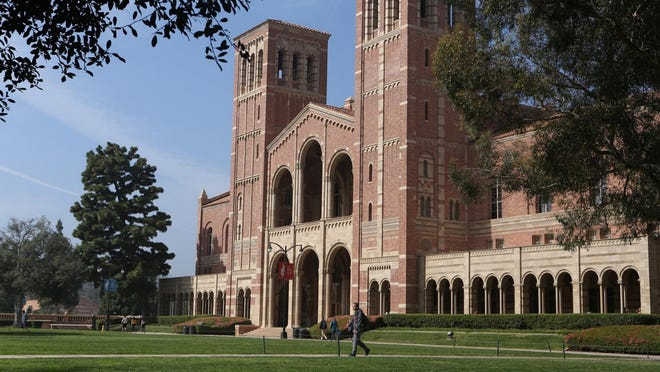 California's three public university systems are fighting federal immigration orders that could force international students at UCLA, seen here, and other campuses to leave the country.