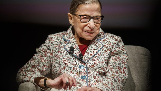 Supreme Court Jusitice Ruth Bader Ginsburg attends a public conversation at the University of Chicago on Sept. 9, 2019, in Chicago, Ill.