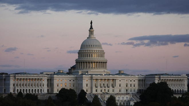 U.S. Capitol building at sunset in Washington, D.C., on Oct. 17, 2019.