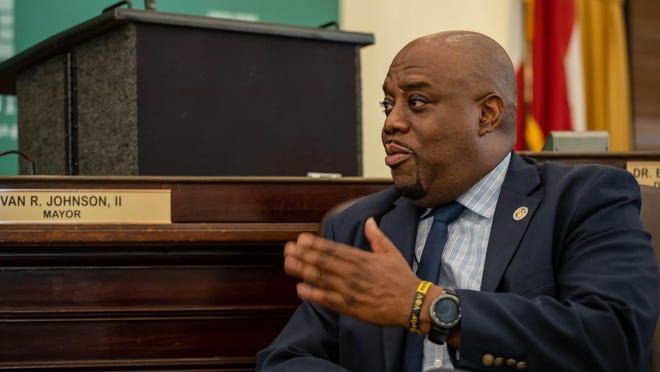Savannah Mayor Van Johnson speaks during an interview on Wednesday June 3, 2020 inside Savannah City Hall.