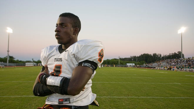 Chevelle Buie, seen in this 2010 photo as a member of the Cocoa Tigers, still has dreams of making the NFL.