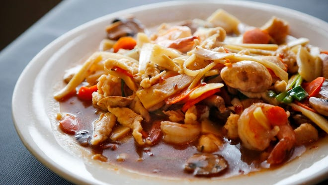 The Furious stir-fry with chicken and shrimp from Cafe Fuzion Thursday, Dec. 4, 2014