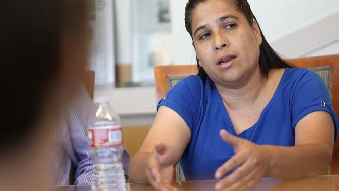 Alma Delia Silva, candidate for Coachella Valley Unified School District, speaks with The Desert Sun editorial board.