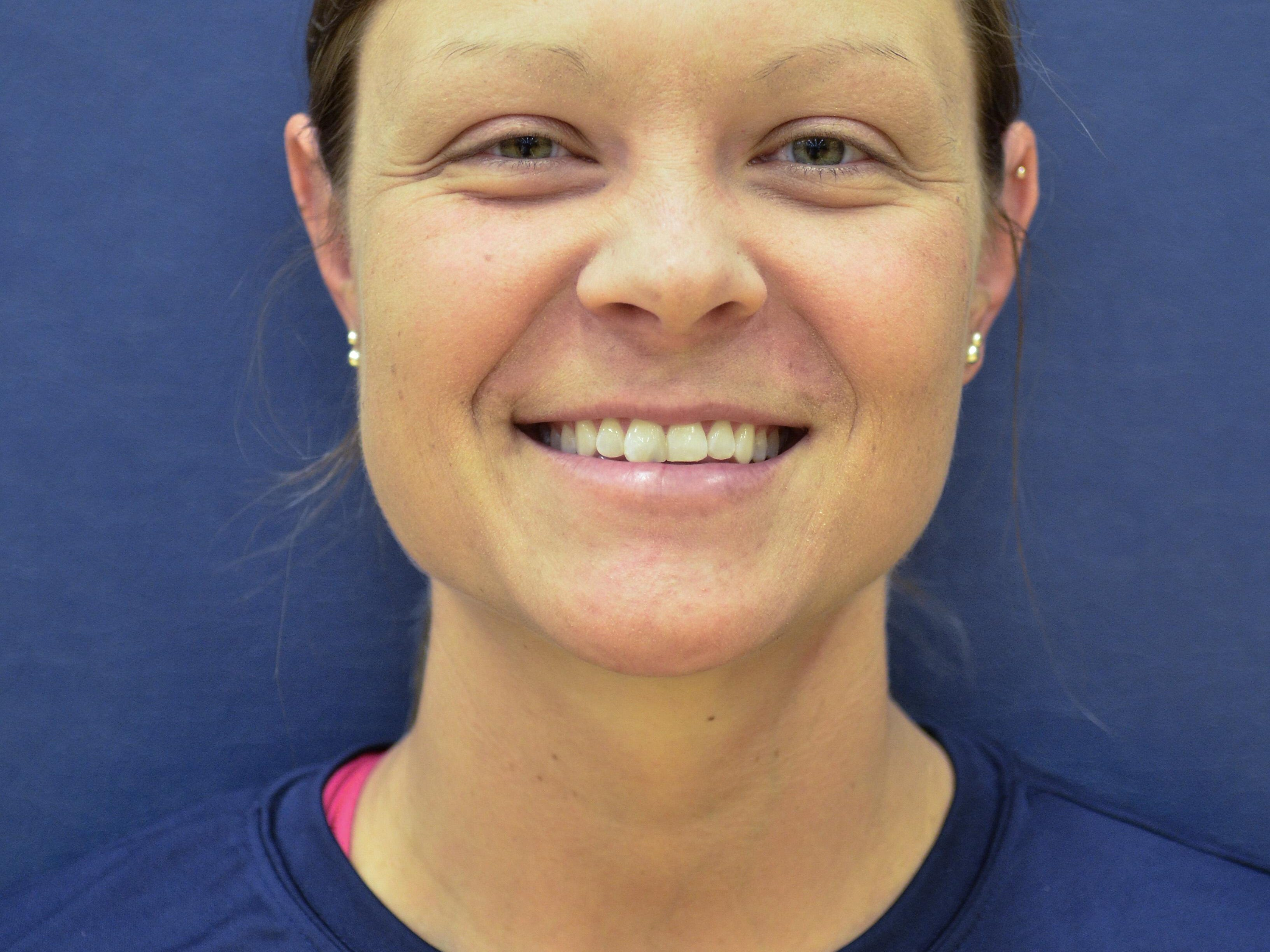 Coach Kristen Michaelis Tuesday night, Aug. 18 during their volleyball practice at St. Clair County Community College.