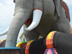Lucy the Elephant welcomes visitors