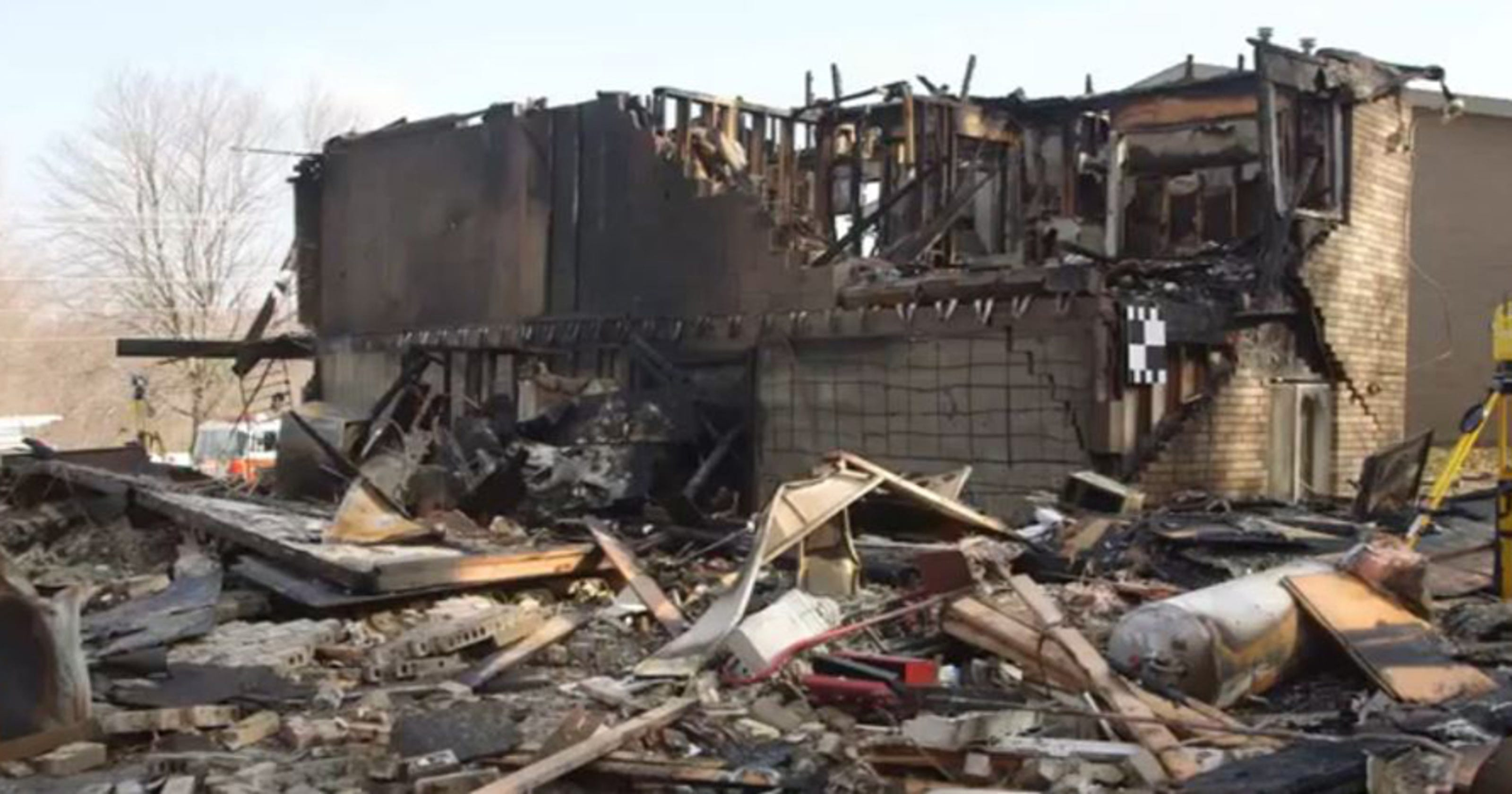 Surveillance Video Shows Ohio Plane Crash Crashed Aircraft Beacon