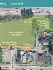 The city's concept for a revamped Warren Avenue Playfield.