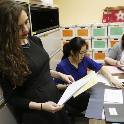 Claire Hazbun, a teen court prosecutor, asks offenders,