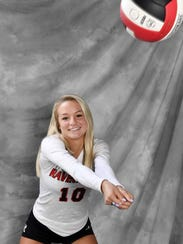 All-Midstate volleyball player Victoria Cerino, Ravenwood