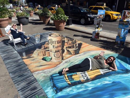 AP CORONA EXTRA ALWAYS SUMMER 3D ART A ENT CPAENT USA NY