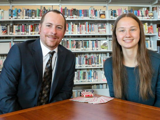 Allison Lynn, right, with Mentor Nicholas Shur.