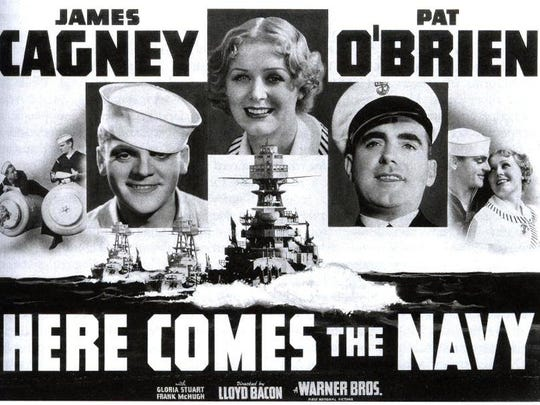 Movie poster for the 1934 film starring James Cagney. It was a comedy about a couple of lunkhead sailors and the girl one of them wants to marry.