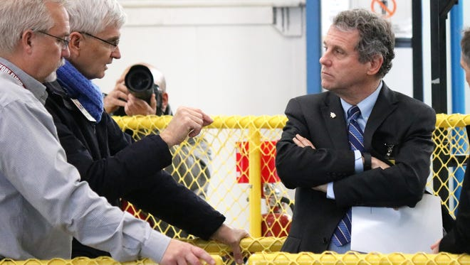 U.S. Sen. Sherrod Brown tours Plum Brook Station, a remote 6,400-acre test facility located in Sandusky, for the NASA Glenn Research Center on Friday.