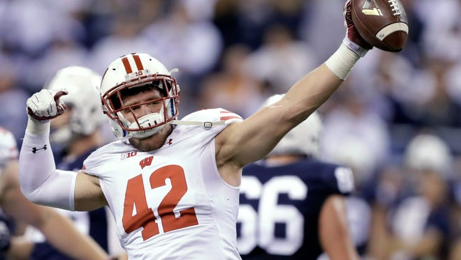 Wisconsin's T.J. Watt was drafted by the Steelers.