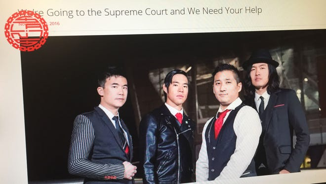 The website for 'The Slants' features a page about the group going to the U.S. Supreme Court in an attempt to trademark the band name.
