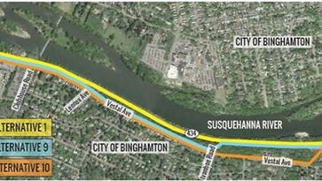 Two Rivers Greenway to Binghamton University will follow Route 434