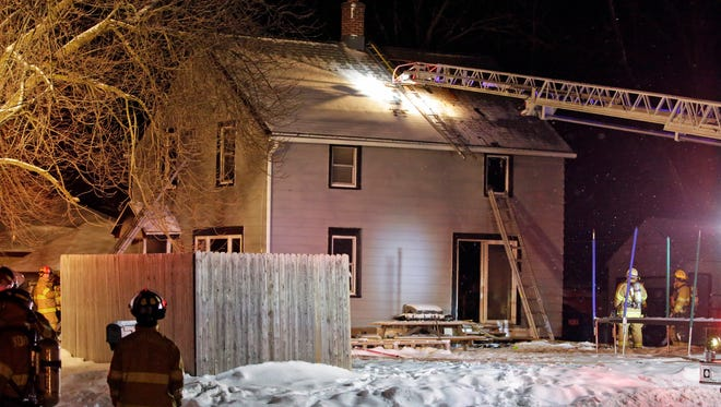 Firefighters from several fire departments worked a house fire in the 500 block of Western Avenue Tuesday January 27, 2016 in Sheboygan Falls.