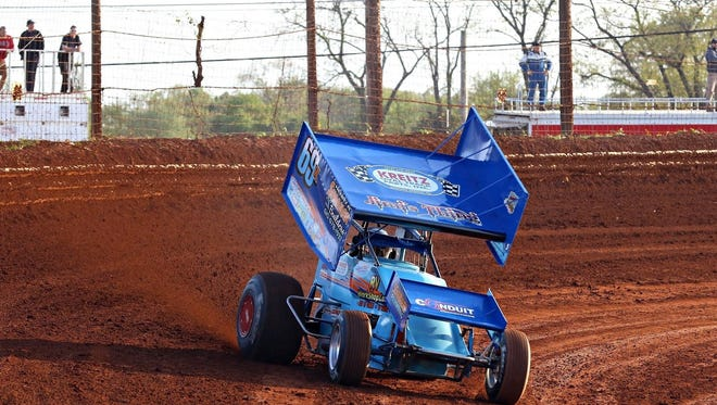 Lance Dewease, driving the No. 69K, sped to a victory Saturday night in the Summer Nationals for 410 Sprints at Williams Grove Speedway, a $25,000 pay day.