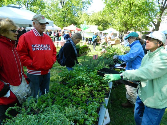 This year's massive plant sale on Rutgers' Cook Campus