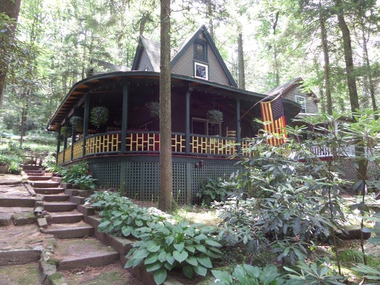 "A typical ""cottage"" at Mt. Gretna."