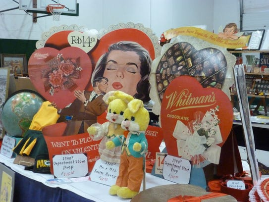 Valentine's Day-themed antiques will be part of the