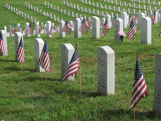 Headstones at the Tennessee Veterans Cemetery at 5901