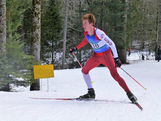 CVU's Tyler Marshall competes during the Vermont high