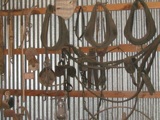 "Vintage tools in ""The Museum"" at Misner Family Farm"