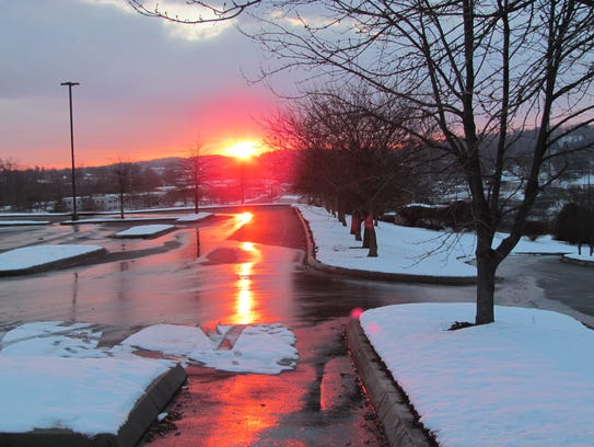 The snowy chill that swept Knoxville on February 26,